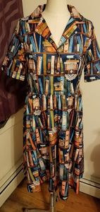 LINDY BOP BOOKSHELF BLETCHLEY DRESS UK16